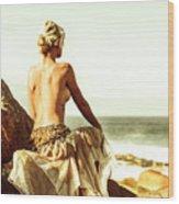 Elegant Classical Beauty  Wood Print