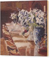 Elegant Dining At Hearst Castle Wood Print