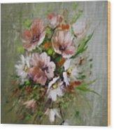 Elegant Flowers Wood Print