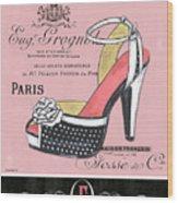 Elegant French Shoes 2 Wood Print