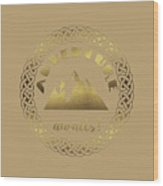 Elegant Gold Foil Adventure Awaits Typography Celtic Knot Wood Print