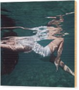 Elegant Mermaid II Wood Print