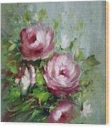 Elegant Roses Wood Print