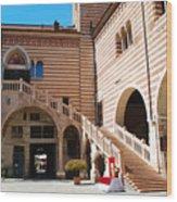 Elegant Scala Della Ragione - Verona Italy Wood Print