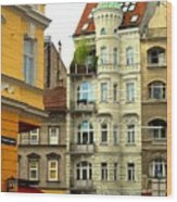 Elegant Vienna Apartment Building Wood Print