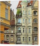 Elegant Vienna Apartment Building Wood Print
