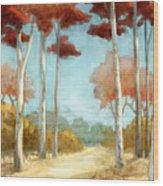 Elegantredforest Wood Print