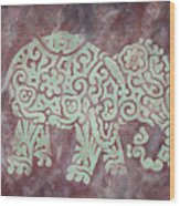 Elephant - Animal Series Wood Print by Jennifer Kelly