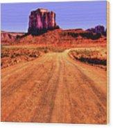Elephant Butte Monument Valley Navajo Tribal Park Wood Print