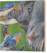 Elephant Fantasy1 Wood Print