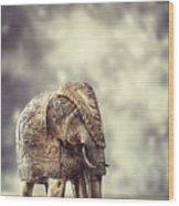 Elephant Figure Wood Print