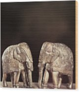 Elephant Figures Wood Print