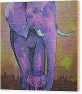 My Elephant   Wood Print