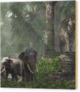 Elephant Kingdom Wood Print