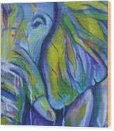 Elephant On Parade Wood Print