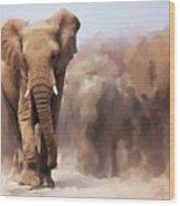 Elephant Painting Wood Print
