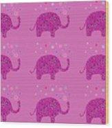 Elephant Pattern Wood Print