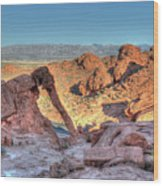 Elephant Rock - Hdr - Valley Of Fire Wood Print