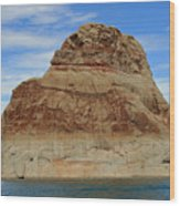 Elephant Rock Lake Powell Wood Print by Chuck Wedemeier