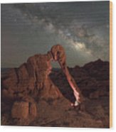 Elephant Rock Milky Way Galaxy Wood Print