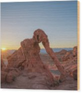 Elephant Rock Sunrise  Wood Print