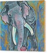 Elephant Spirit Dreams Wood Print by Jenn Cunningham