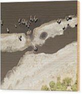 Elephants On The Banks Of The Chobe Wood Print