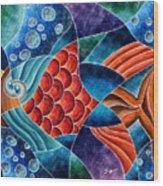 Eletric Fish Wood Print