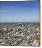 Elevated View Of Blackpool Wood Print
