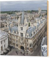 Elevated View Of Cambridge Wood Print