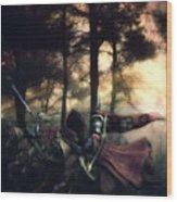 Elf Knights Wood Print