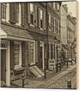 Elfreths Alley Wood Print