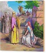 Eliezer N Rebekah Wood Print