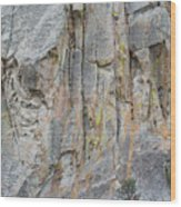Elijah Weber Climbs A Route Called Thin Slice  Wood Print