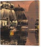 Eliminating The Pirates Wood Print