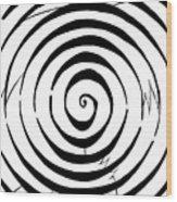 Eliptical Maze Wood Print