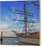 Elissa Sailing Ship Wood Print