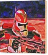 Elite Trooper - Da Wood Print