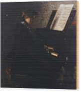 Elizabeth At The Piano Wood Print