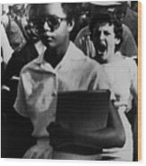 Elizabeth Eckford, One Of The Nine Wood Print