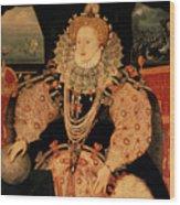Elizabeth I Armada Portrait Wood Print
