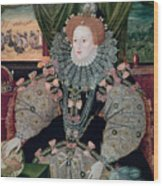 Elizabeth I Armada Portrait Wood Print by George Gower