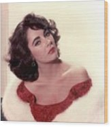 Elizabeth Taylor Diamond Are Forever With Her Collectin Wood Print