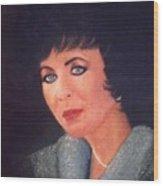 Elizabeth Taylor Portrait Wood Print
