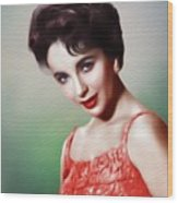 Elizabeth Taylor, Vintage Movie Star Wood Print