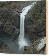 Elk Falls Provincial Park Waterfall Wood Print