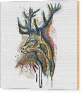 Elk Head Wood Print