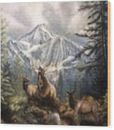 Elk Ridge Wood Print