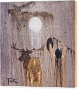 Elk Spirit Wood Print