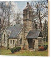 Elkhart Illinois Chapel Wood Print